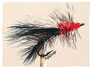 Black Stimulator Fly Fishing Flies - Twelve Size 14