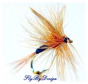Ginger Quill Dry Fly -Twelve Hook Size 14 Fishing Flies