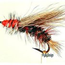Peacock Stimulator Dry Fly Fishing Flies Twelve Size 18