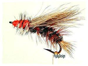Peacock Stimulator Dry Fly Fishing Flies Twelve Size 18