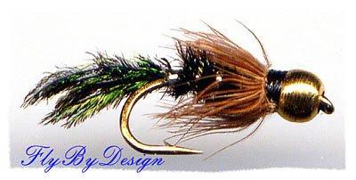 BH Zug Bug Nymph - One Dozen Size 12 Fly Fishing Flies