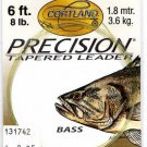Cortland 3x (8Lb test) 6' Precision Bass Tapered Leader