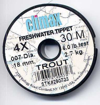 Climax TROUT 4x Monofilament FlyFishing Tippet Material