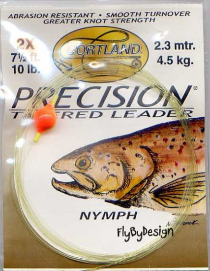Cortland 2x 10 Lb Nymph 7-1/2' Precision Tapered Leader