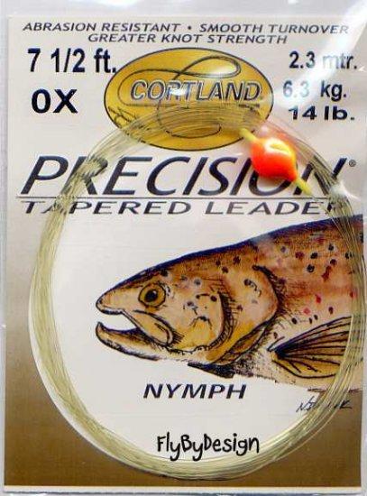 Cortland 0x 14 Lb Nymph 7-1/2' Precision Tapered Leader