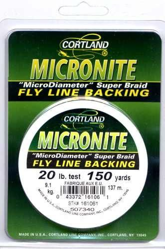 Cortland Micronite Fly Line Backing - 20 LB 150 YDS