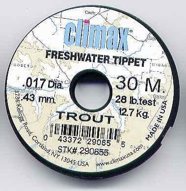 Climax TROUT 28 Lb Test Monofilament Tippet Material