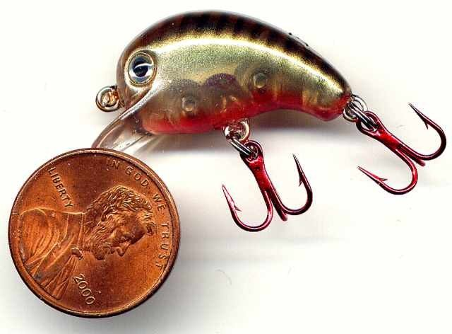 Michaels Little Bitty Kacki/Grn Crank Bait Fishing Lure