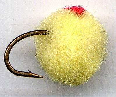 Yellow GloBug Egg Fly Twelve Size 10 Fly Fishing Flies