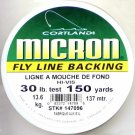 Cortland Micron Yellow Fly Line Backing - 30 LB 150 YDS