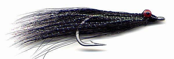 Clouser Black Minnow Fly 12 Fly Fishing Flies - Size 2