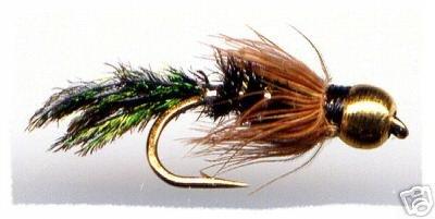 BH Zug Bug Nymph - One Dozen Size 14 Fly Fishing Flies