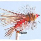 Orange Stimulator, One Dozen Hook Size 16 Fishing Flies