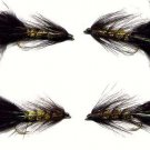 Black/Olive Woolly Bugger 12 Size 10 Fly Fishing Flies