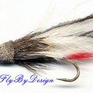 White Marabou Muddler Minnow Fly Twelve -  Size 6 Flies
