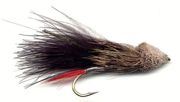 Black Marabou Muddler Minnow Fly - Twelve  Size 6 Flies