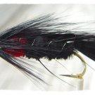 Matuka Black Streamer Fly Fishing Flies (12)Hook Size 8