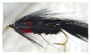 Matuka Black Streamer Fly Fishing Flies (12)Hook Size 6