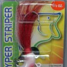 Original Deadly 1-1/2 Ounce Red Shad Hyper Striper Jig