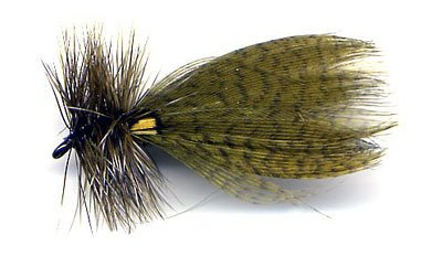 Hornberg Olive Dry Fishing Flies - Twelve Hook Size 10