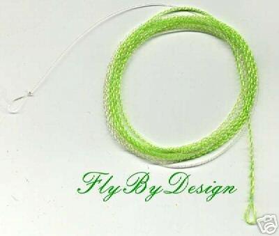 Furled 8 #  FLUOROCARBON Solar Green Leader 5-7 wt Rod