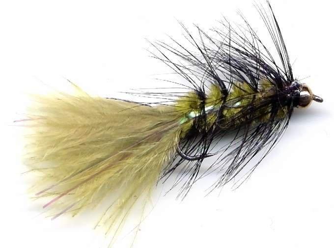 BH Olive Black Crystal Woolly Bugger - Twelve Size 12