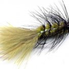 BH Olive Black Crystal Woolly Bugger - Twelve Size 12