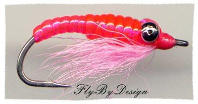 Crazy Charlie Twelve Pink Saltwater Flies Size 8