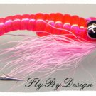 Crazy Charlie Twelve Pink Saltwater Flies Size 8