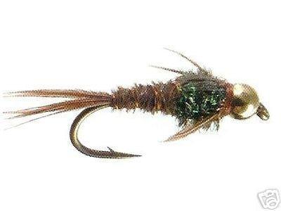 Bead Head FB Pheasant Tail Fly Fishing Flies - Size 20