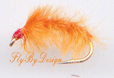 Ray Charles Orange Scud Sowbug Nymphs - Twelve Size 18