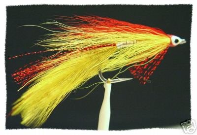 Red & Yellow Deceiver Fly Fishing Flies 6 Hook Size 1/0