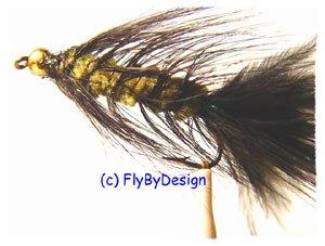 BH Olive/Black Woolly Bugger Flies -Twelve Hook Size 16