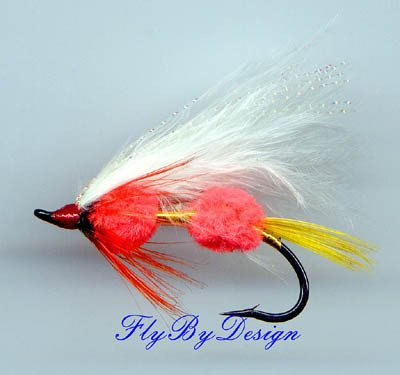 Double Orange Egg Sperm Fly Fishing Flies Twelve Size 6