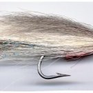 Lefty Gray/White Deceiver Fly Fishing Flies - Size 3/0