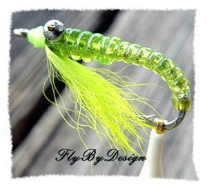 Crazy Charlie Twelve Chartreuse Saltwater Flies Size 8