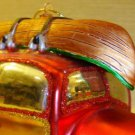 Colorful Fishing Canoe & Car Christmas Tree Ornament