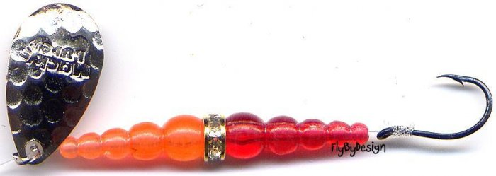 Mack's Wedding Ring Silver, Flo Red, Flo Orange Spinner