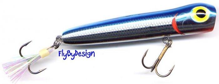 "Storm 2-1/2"" Metalic Silver/Blue Chug Bug Topwater Lure"