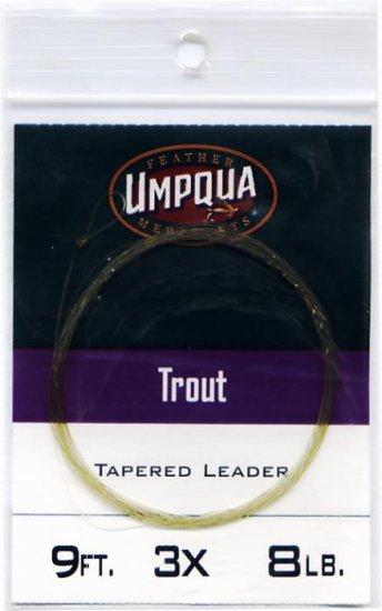 Umpqua 9'  3x (8 Lb test) Tapered Trout Leader w/Loop