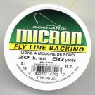 Cortland Micron Yellow Fly Line Backing - 20 LB 50 YDS