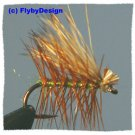 Olive Elk Hair Caddis Dry Fly Twelve Size 18 Fish Flies