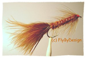 Brown Woolly Bugger - Twelve Size 8 Fly Fishing Flies