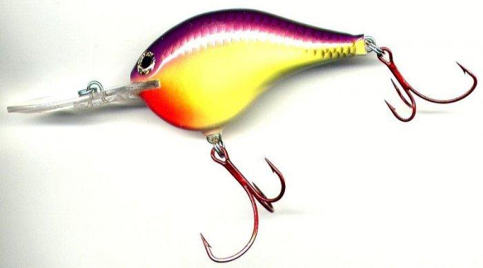 "Rapala 2-3/4"" Rattling Chart Purple Shiner Dives 16 Ft"