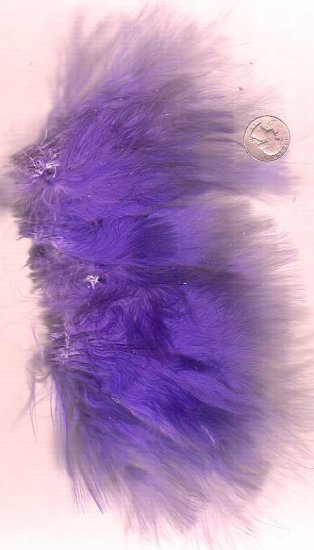 Premium Dyed 1 Ounce Purple Strung Marabou Feathers
