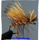 Brown Elk Hair Caddis Dry Flies Twelve Hook Size 16 Fly