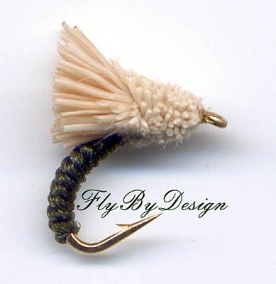 Dark Olive Serendipity Twelve Size 16 Fly Fishing Flies