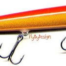 "Rapala F-11 Gold Fluorescent Red 4-3/8"" Lure w/ PAPERS"