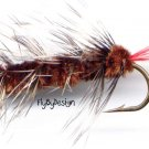 Brown Wooly Worm Fly Fishing Fly - One Hook Size 6
