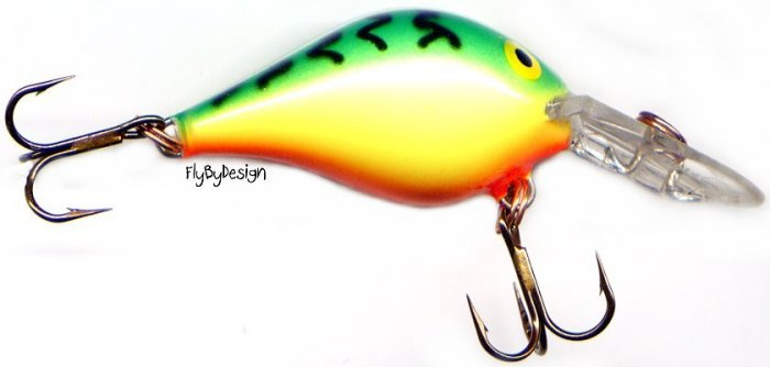 Rare Rapala Rattlin' Fat Rap RFR05 FT Fire Tiger Lure